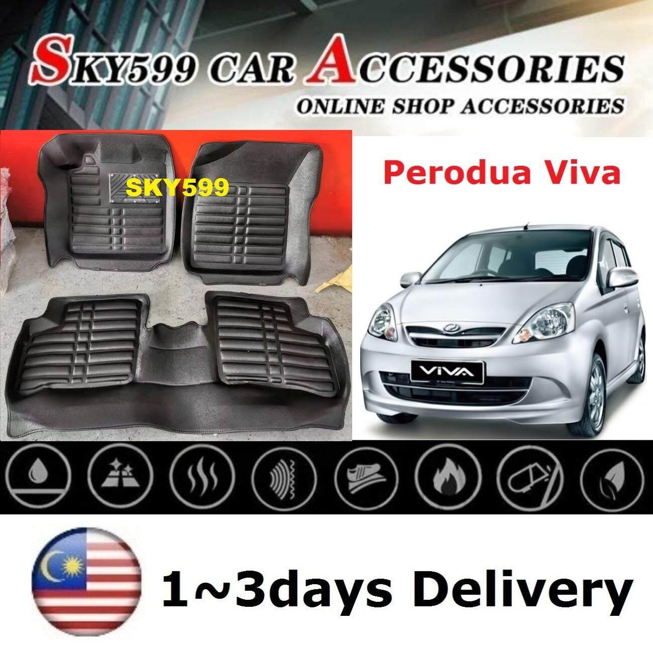 Perodua Viva 5D Floor Mat Carpet Car Floor Mat