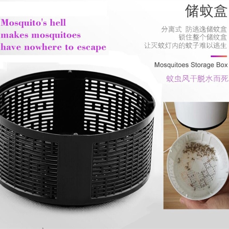 Electric Mosquito Killer Lamp USB Electric Mosquito Light ULTRA-quiet Home Insect Trap - BLACK / WHITE