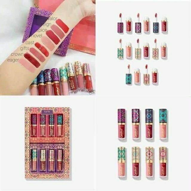FREE GIFTTarte Lipmatte Glossy Lip Paints Limited Edition 8 Pcs Set lipstick