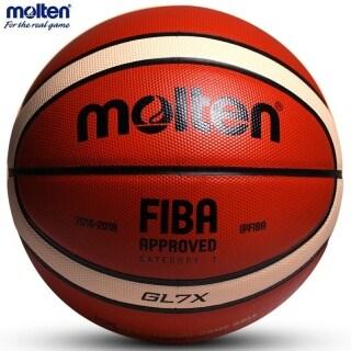 [Hàng quốc tế Lưu ý thời gian giao hàng dự kiến]Bóng Rổ MoltenBasketball Chính Thức Bóng Rổ Chất Liệu PU GL7X Cỡ 7 Huấn Luyện Trong Nhà Ngoài Trời Ballon Miễn Phí Với Túi Lưới + Kim Khí thumbnail