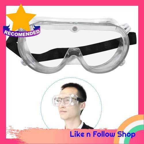 Safety Goggles Clear Lens Protective Eyewear Glasses with Adjustable Band Anti-Fog Anti-Dust Chemical Splash Impact Resistant Eye Protection for Lab Home Work Outdoor Activities (Standard)