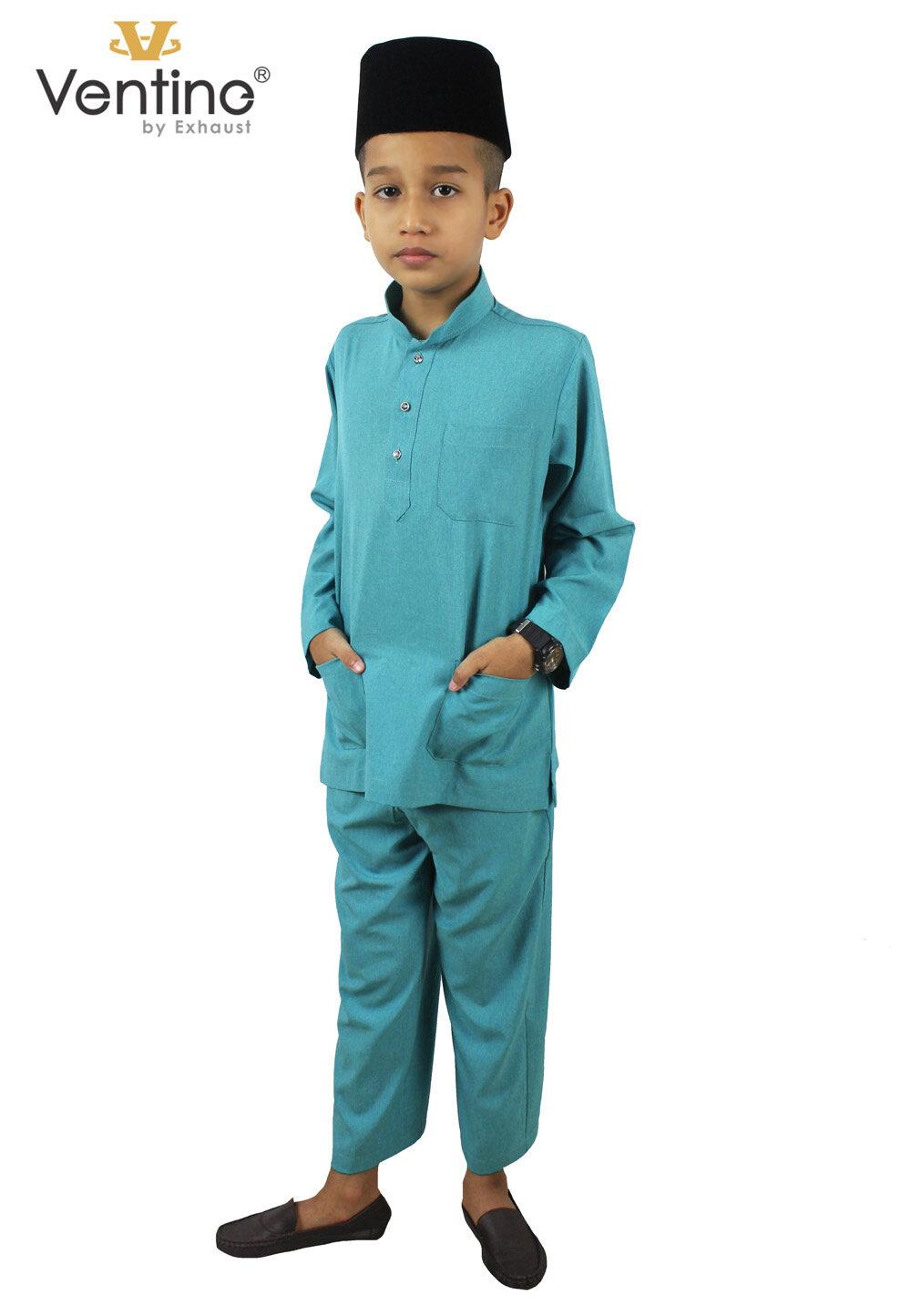 Ventine Baju Melayu Modern-SLIM FIT V2200-BMM(S)B#8-14-40