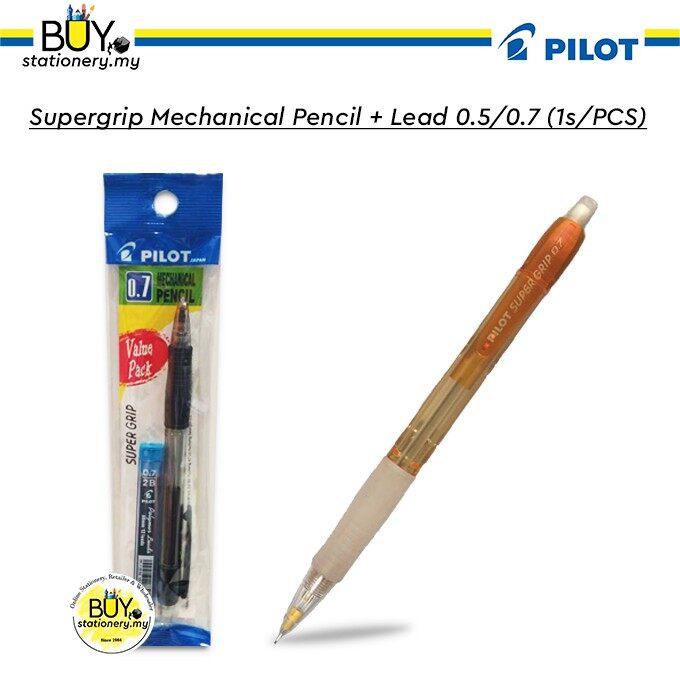 Pilot Supergrip Mechanical Pencil + Lead 0.5/0.7 - (1s/PCS)
