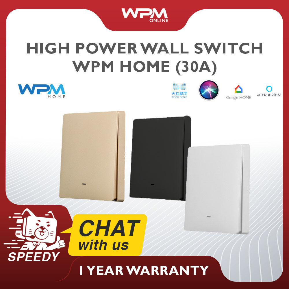 [WPM Home Smart Wall Switch High Power 30A - FL SERIES] EU 6600W WiFi BoilerTuya Smart Life Wireless Remote Control Switch for Water Heater Air Conditioner