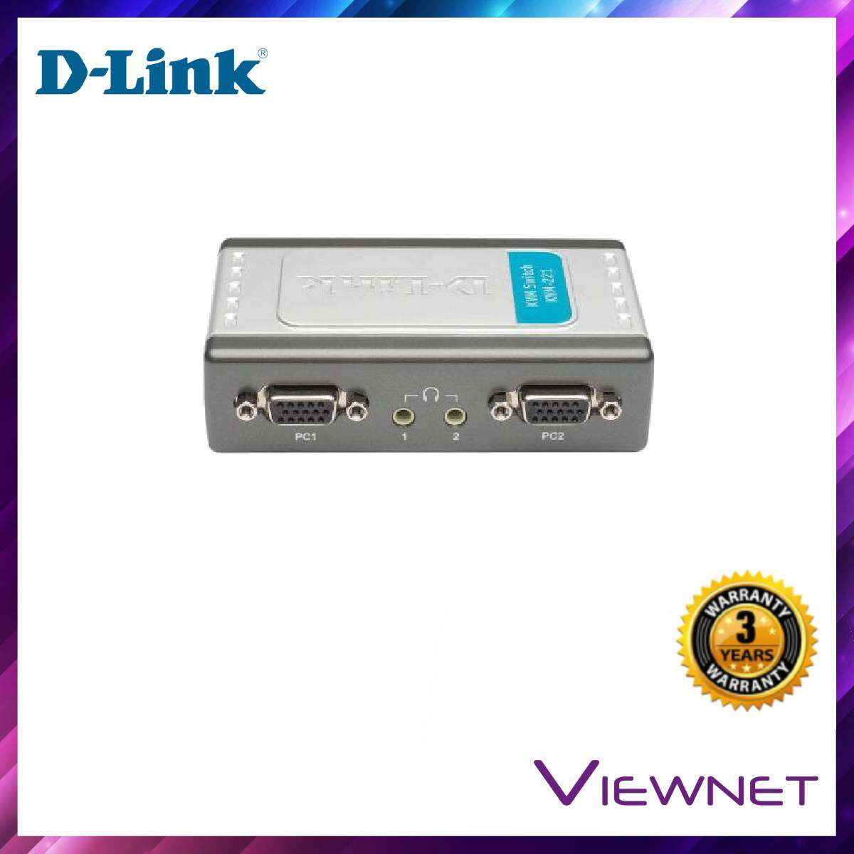 D-Link KVM USB 2-Port With Audio Support Switch (KVM-221)