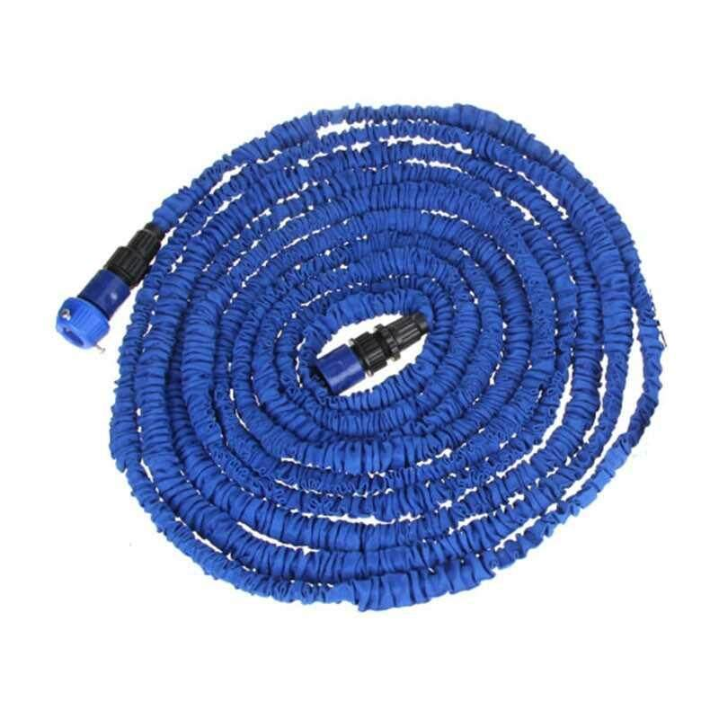 Ultralight Flexible 3X Expandable Garden Magic Water Hose Pipe + Faucet Connector + Fast Connector