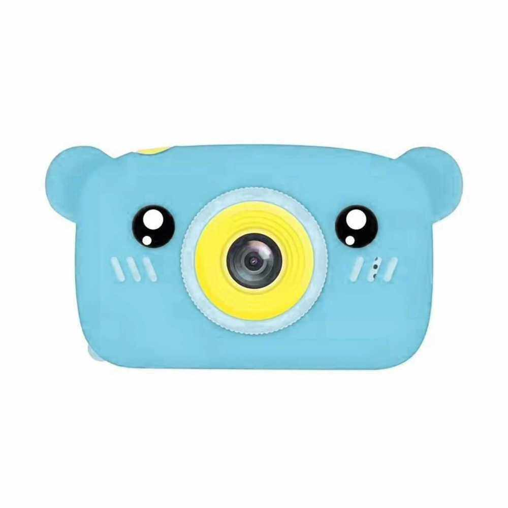 1080P/30FPS Mini Kids Camera 2.0 Inch Big IPS Display Screen Cute Cartoon Animal Appearance Camera with for Children Boys Girls (Blue)