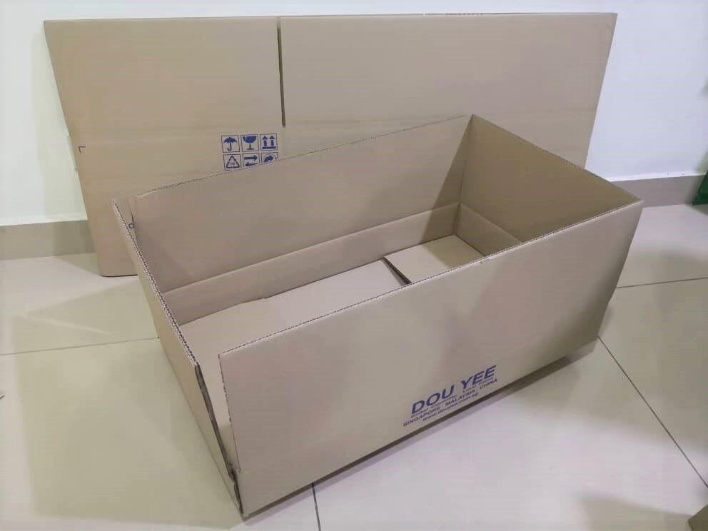 5pcs Printed Carton Boxes (L689 X W406 X H90mm)
