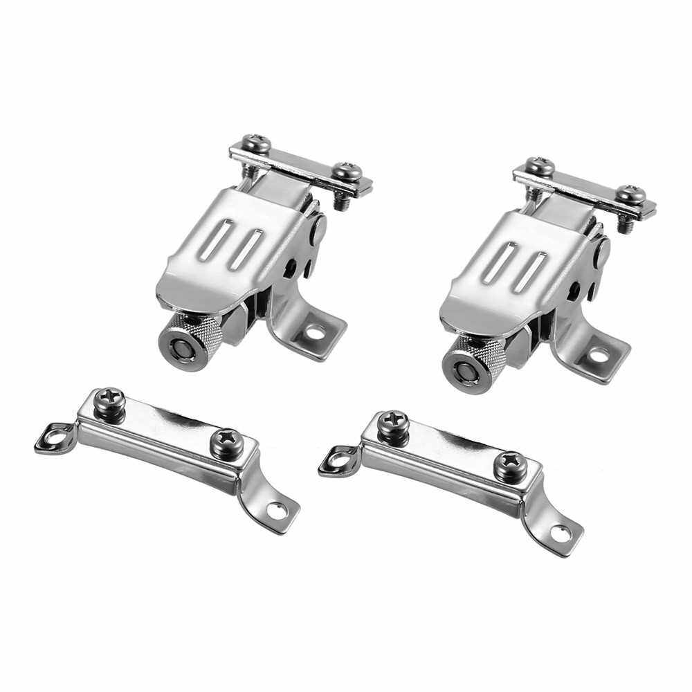 Silver Snare Drum Wire Strainer Regulator Throw Off Butt End Set Drum Set Parts Accessories Replacement, 2 Sets/Pack (1)