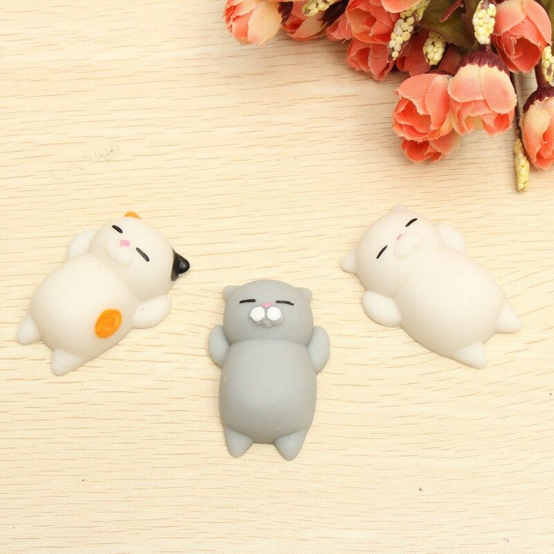 Gadgets - Cat Kitten Squishy Squeeze Cute Healing Toy Kawaii Collection Reliever Gif - COLORFUL CAT / WHITE CAT / GREY CAT