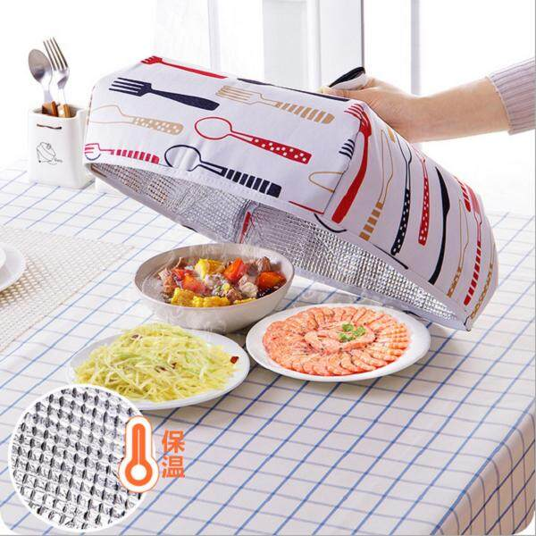 (Ready Stock in Selangor) Foldable  Food Cover with Aluminium Foil for  Food Heat Thermal Warmer