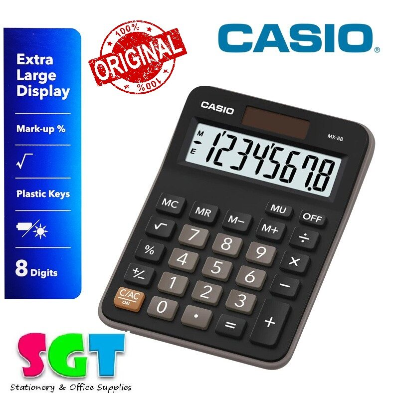 Casio Calculator MX-8B (Black)