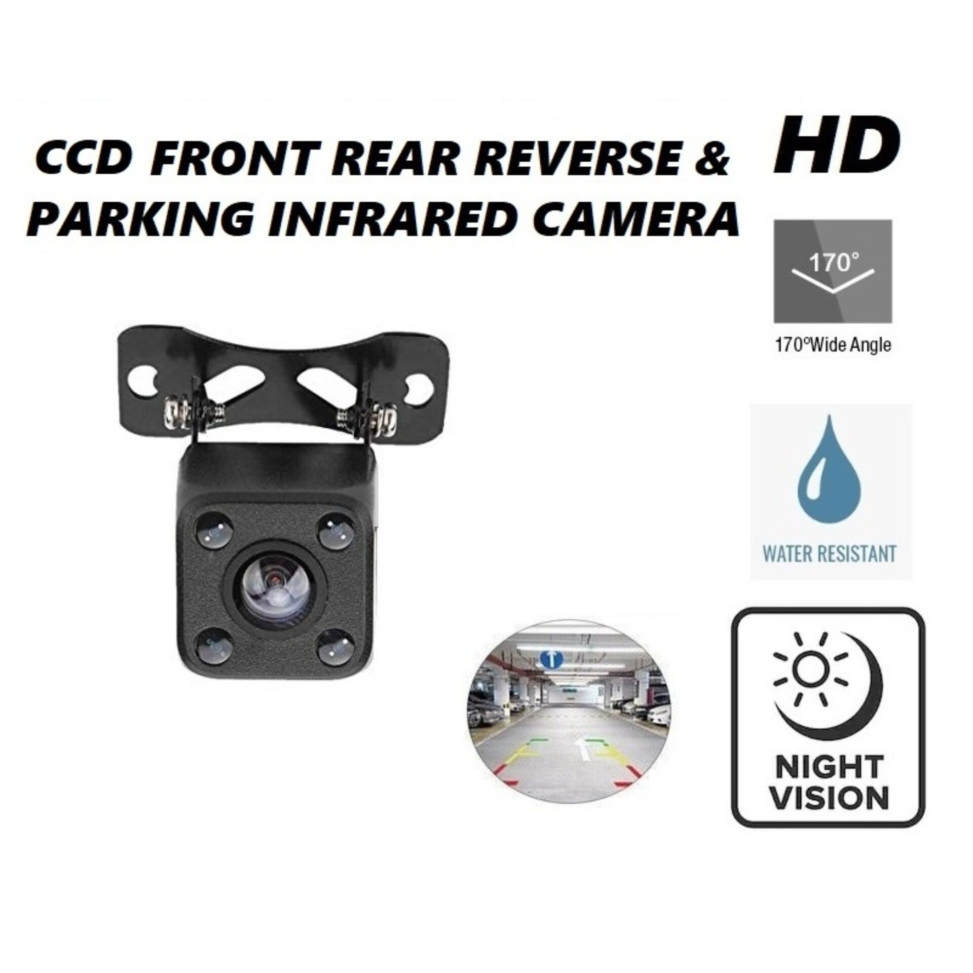 Car Front & Rear View Reverse Camera Parking Camera CCD Infrared 170 Degree Wide Angle HD Camera