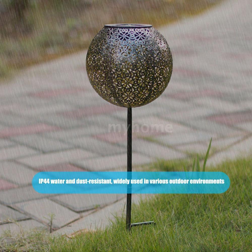 Outdoor Lighting - Garden Solar Light Globe Stake Lawn Lamp IP44 Water-resistant Outdoor Lights for Walkway Lawn - BRONZE