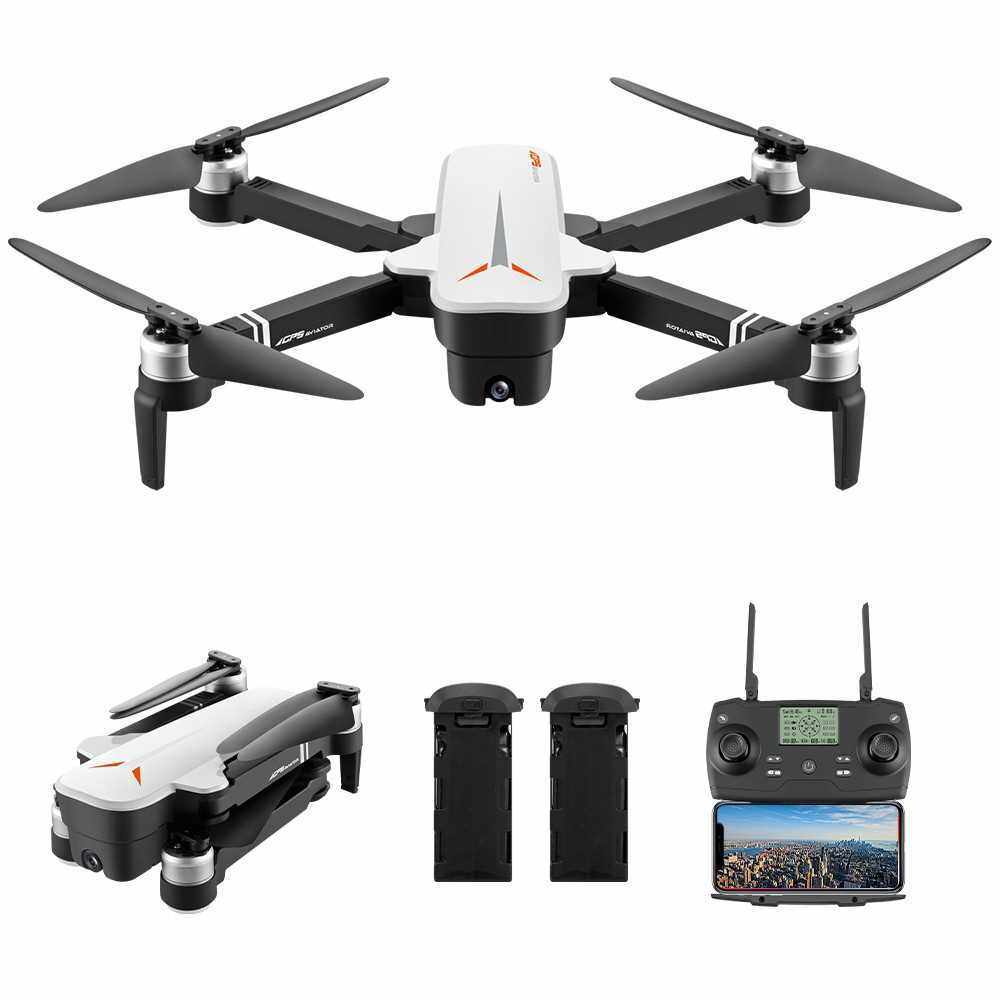 8811 RC Drone with Camera 4K Drone 5G Wifi Brushless RC Quadcopter GPS Optical Flow Positioning Way-point Flight Palm Control MV Production Gesture Photo Video Follow Me 2 Batteries (White)