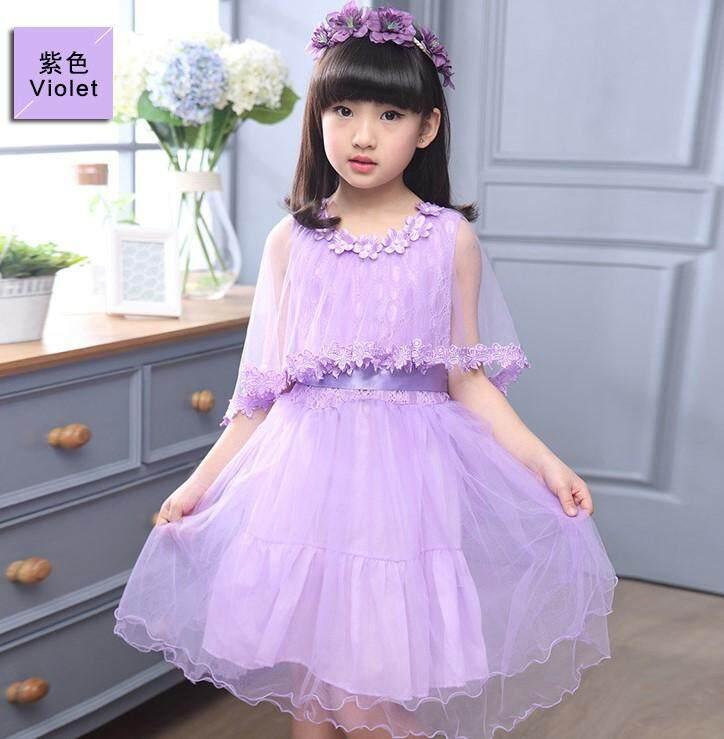(Pre Order14 Days JYS  Fashion Korean Style Kids Girl Dress Collection -5189915col518-9915--Purple -110