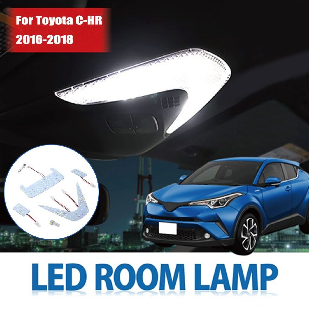 Car Lights - 6000K 2835SMD 102LEDs White Interior Reading Lights for Toyota CHR CHR - Replacement Parts