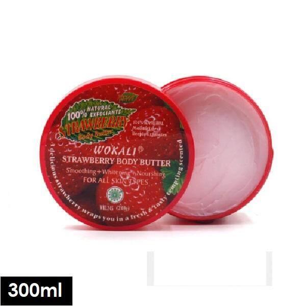 Wokali Whitening Smoothing Moisturizing Strawberry Body Scrub 300ml