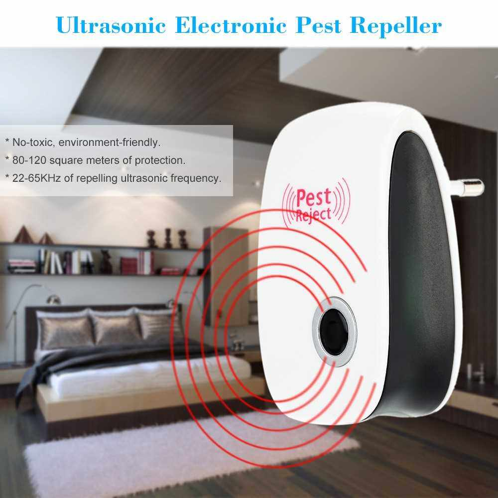 High Quality Ultrasonic Electronic Pest Repeller Indoor for Lustrating Mouse Bug Mosquito Insect (Standard)