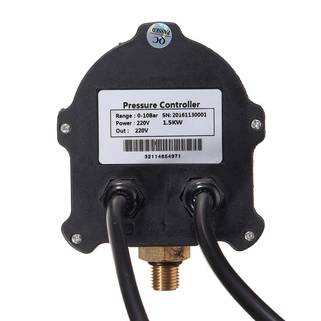 Automotive Tools & Equipment - Hydraulic Machine Air Compressor Digital Pressure Switch 0-10 Bar 220V AC 10A - Car Replacement Parts