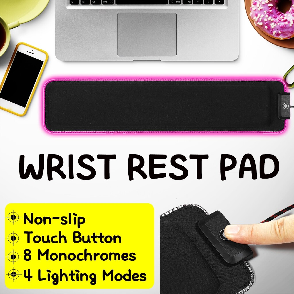 Mousepads - Anti-Slip RGB Keyboard Wrist Rest Pad Mouse Base LED Lighting Support Cushion-3c - Computer Accessories