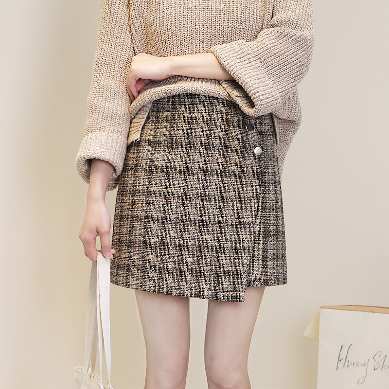 (Pre Order14 Days JYS Fashion Korean Style Women Skirt Collection 533-2084col533-2084--Brown -S