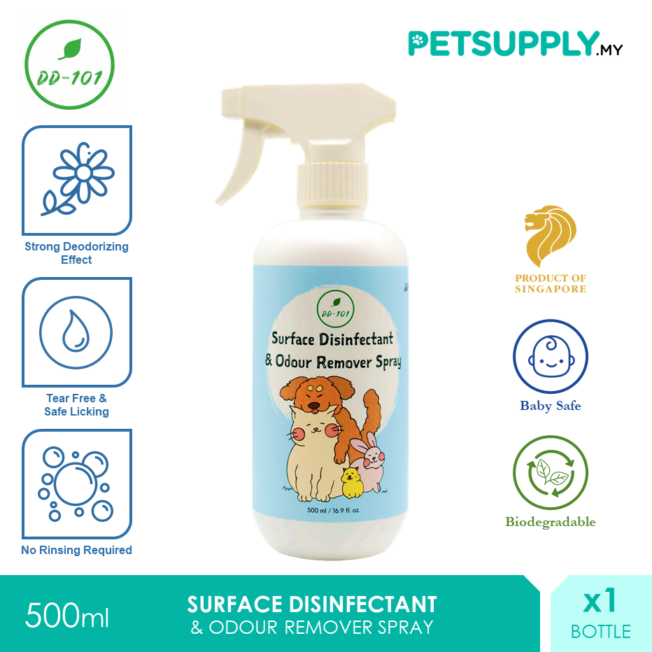 DD101 Surface Disinfectant Odour Remover Spray 500ml [Tick Flea Cat Dog Kucing Anjing - Petsupply.my]