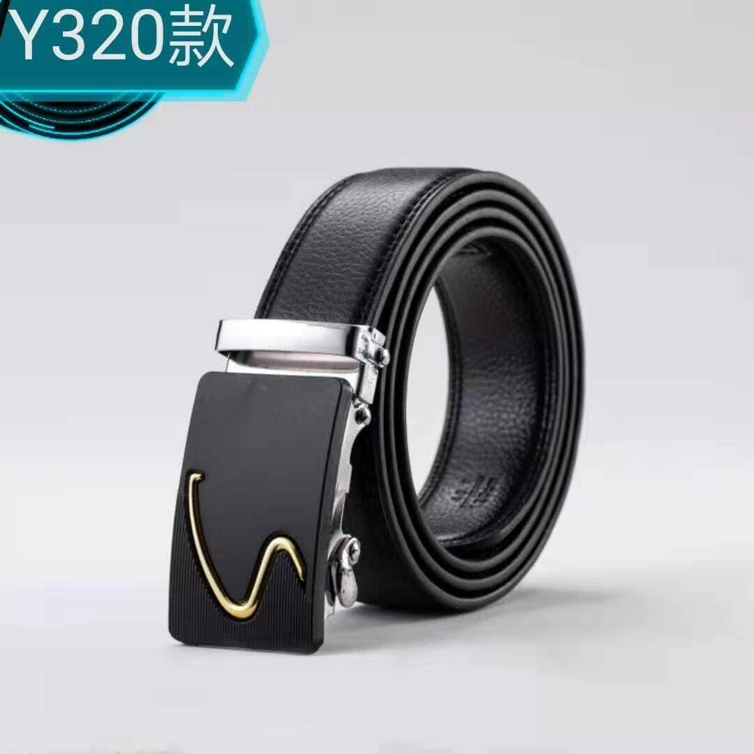 [M'sia Warehouse Direct]100% Cowhide Leather/PU 2019 Korean Series Men's Fashion Automatic Buckle Belt Black Gold Series Perfect Gift (Come With Box) Luxury Classy Belt Suitable For Formal Wear Jeans Casual Wear Belt Long Lasting Tali Pinggan Kulit Halal