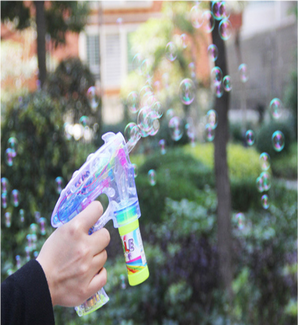 Bubble Gun with AUTO LED Light (With / Without Battery)