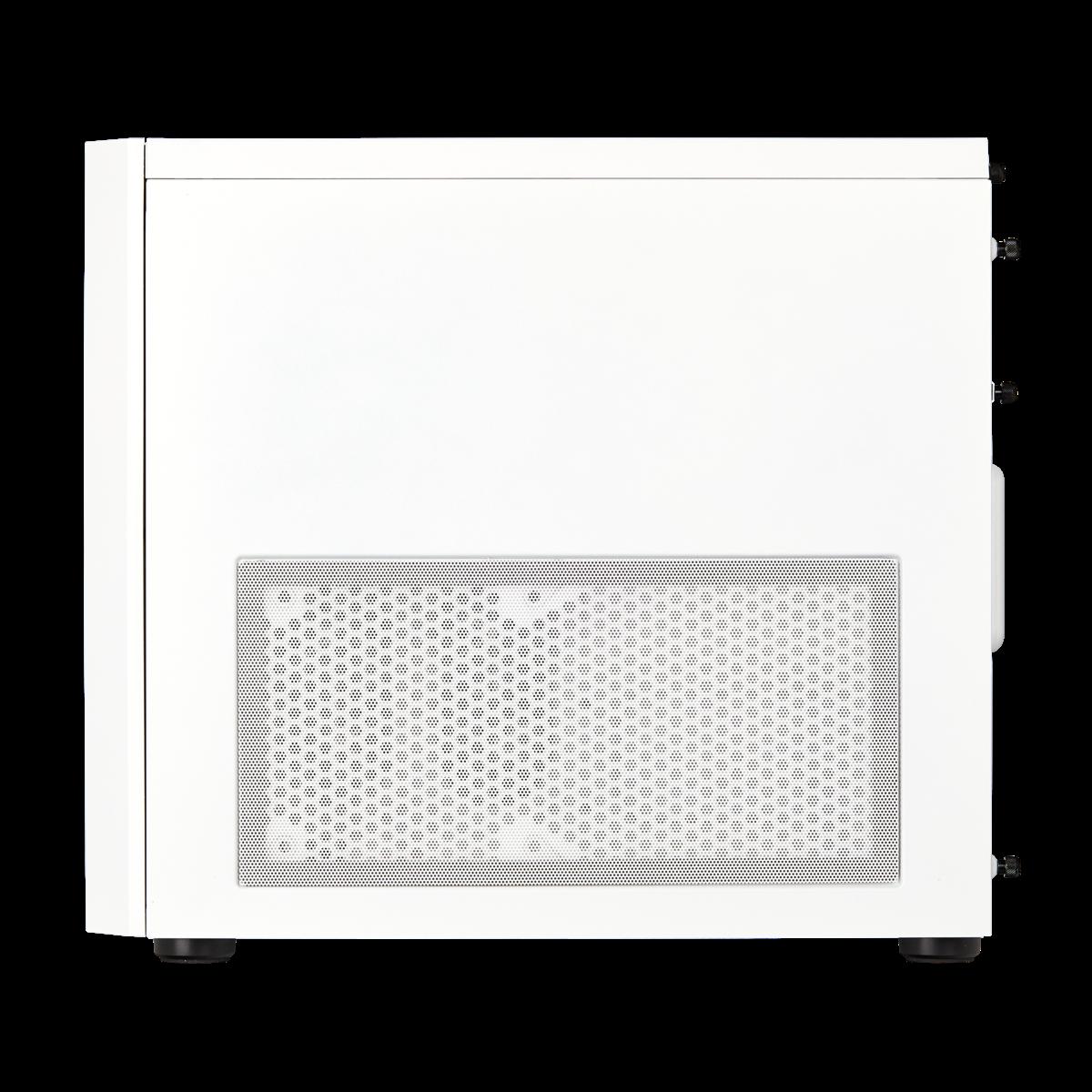Corsair Desktop Casing Crystal Series 280X RGB Micro-ATX Case (CC-9011137-WW) (White), Massive Cooling, Stunning RGB Software Control, Three Panel Tempoered Glass