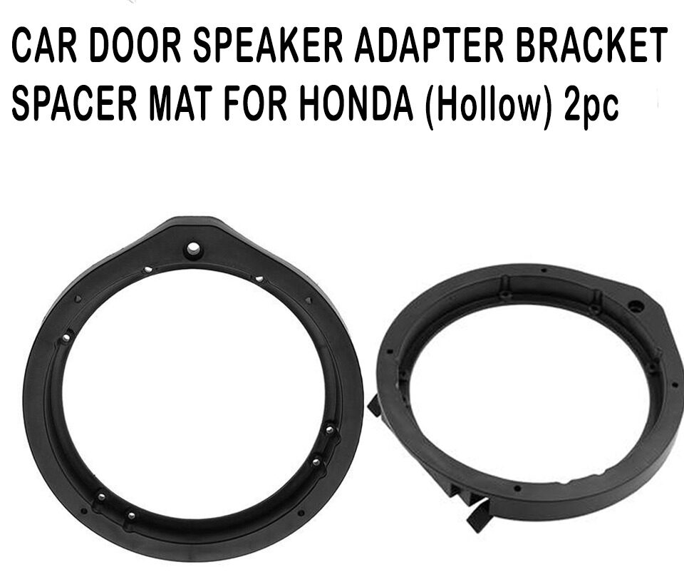 2 pcs 6.5 inch Car Speaker Spacer Mount Adapter Bracket Ring Mat for Honda (Hollow)