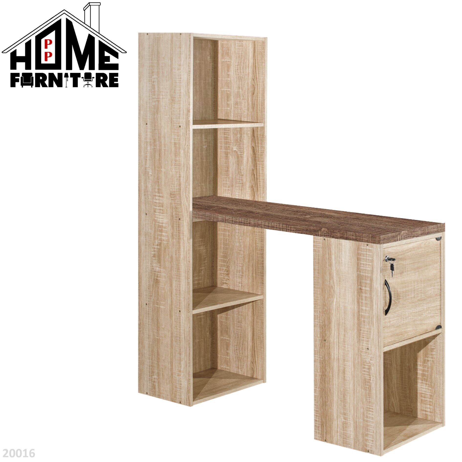 PP HOME Study Table with shelf & locker drawer/Writing table/Working table /PC table/ Student table/Home office table/Multipurpose table/Desk/Computer table/Destop/laptop/Meja belajar/Meja tulis/Meja kerja/komputer电脑桌/书桌/工作桌/读书桌/办公桌20017