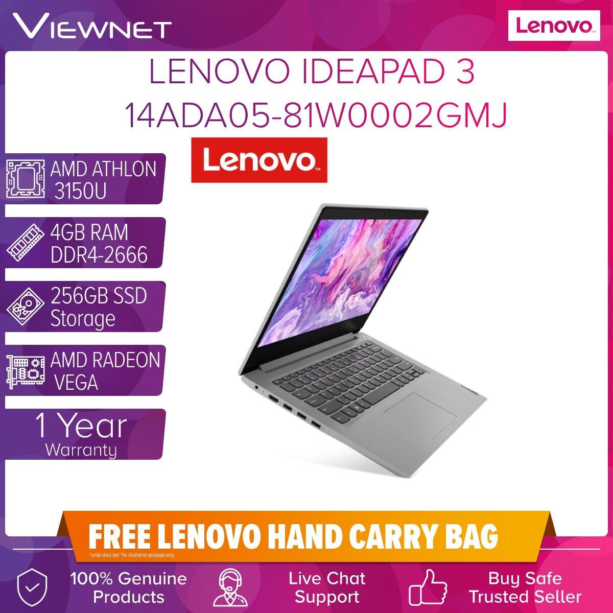 LENOVO IDEAPAD 3 14ADA05 81W0002GMJ 4GB DDR4/256GB