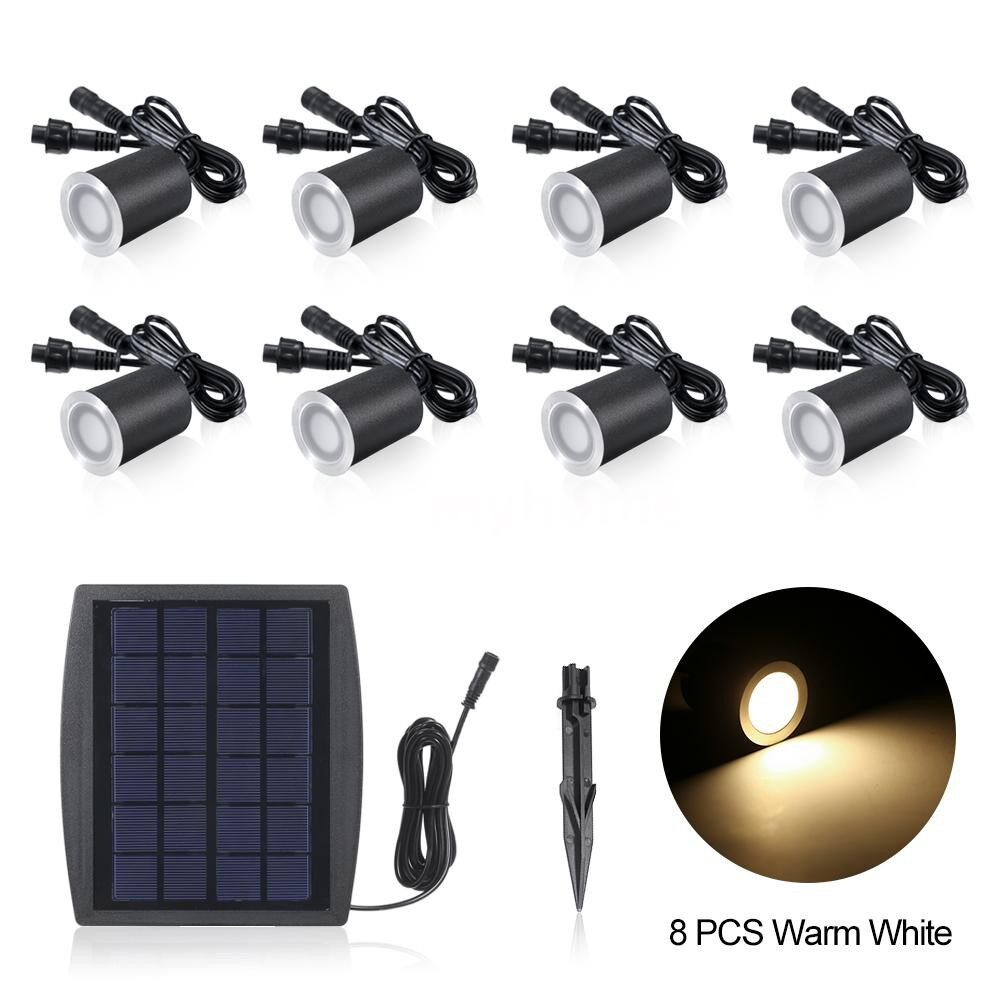 Outdoor Lighting - 3.2V 0.2W 8 PIECE(s) Solar Deck Lights IP65 Waterproof Solar Garden Light Sensing Garden Paths - WARM WHITE & 8 PIECE(s) / WARM WHITE & 6 PIECE(s) / WHITE & 8 PIECE(s) / WHITE & 6 PIECE(s)