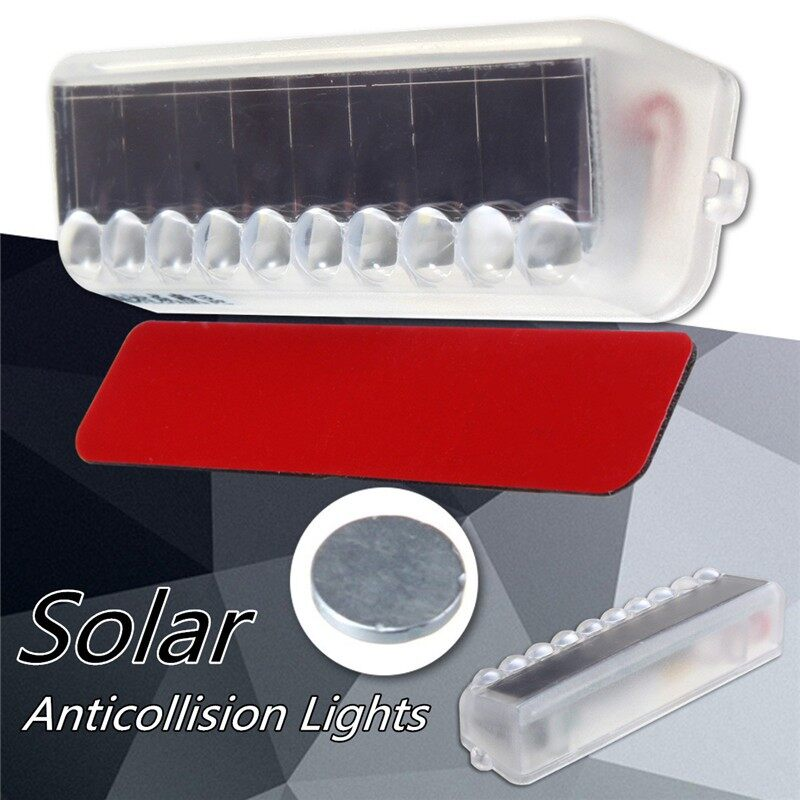 Car Lights - Solar WIRELESS LED Car Dash Strobe Lights Flash Emergency Warning Safety Bulb - Replacement Parts