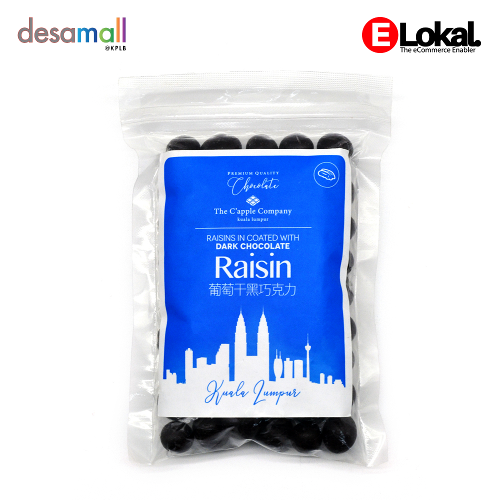 C\'APPLE Dark Chocolate - Raisin (250g)