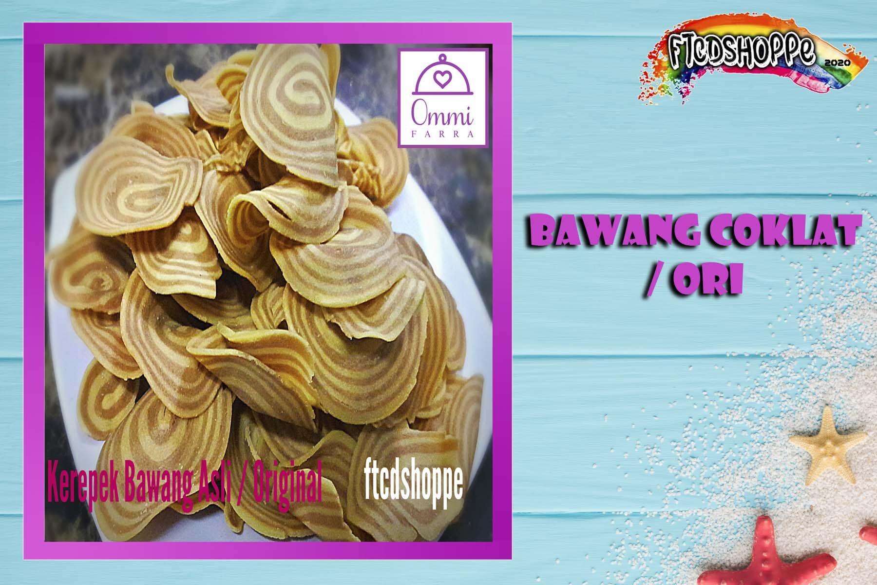 Kerepek Rangup ! Bawang Coklat / Original ( 130 g ) -Tradisi Ommi Farra