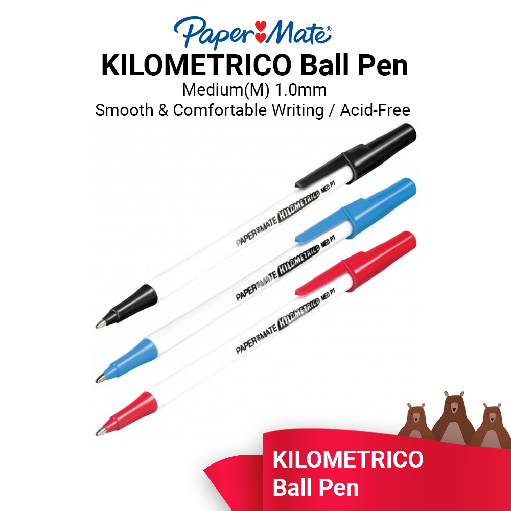 Papermate Kilometrico Ball Pen 1.0mm Medium (ORIGINAL) - Ready Stock - Fast Shipping