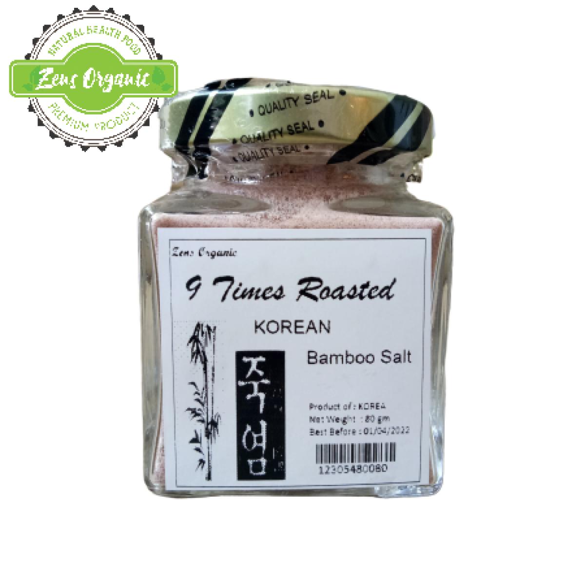 Zens Organic Premium 9 Times Roasted Bamboo Salt 80g