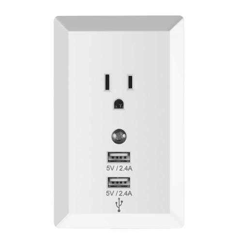 Socket Wireless Home Plug Socket with Night Light Adaptor Plug with USB Interface