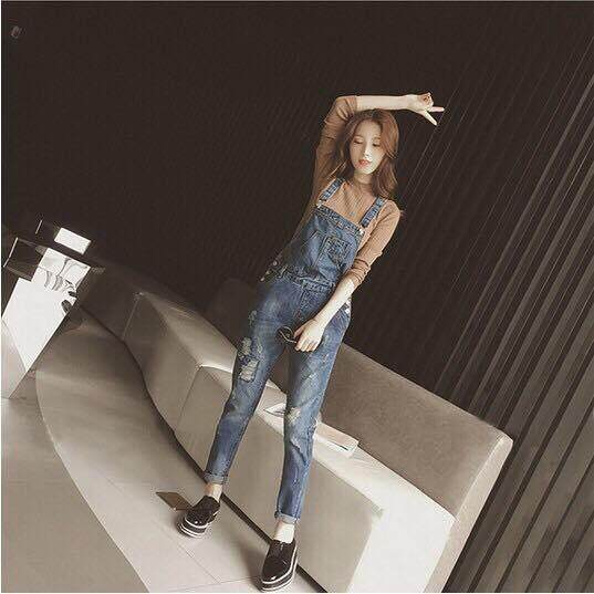 READY STOCK Jeans Jumpsuits Casual Korean Vintage Slim Denim