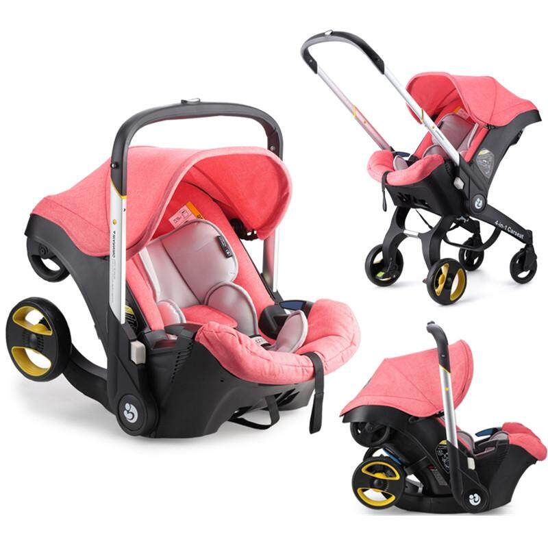 Lightweight Compact Baby Car Seat Stroller 4 in 1 Transformable Travel System