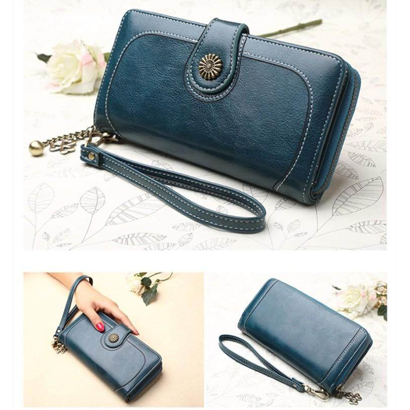 Korean Wallet Women Long Purses Pu Leather Card Holder Zipper Short Coin Wallet