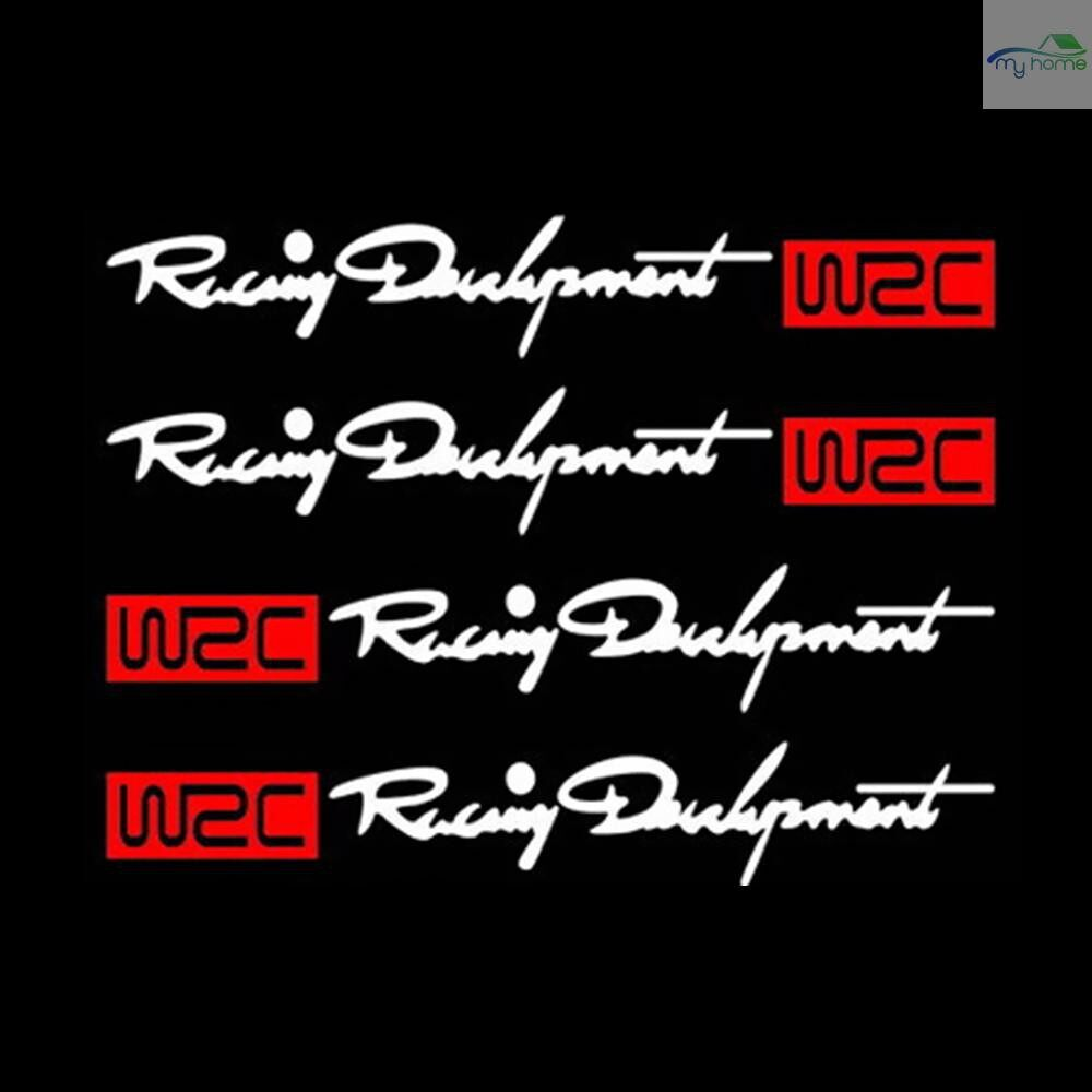 Engine Parts - 4 PIECE(s) Rear-view Mirror WRC Car Body Styling Sticker Removable Waterproof - Car Replacement