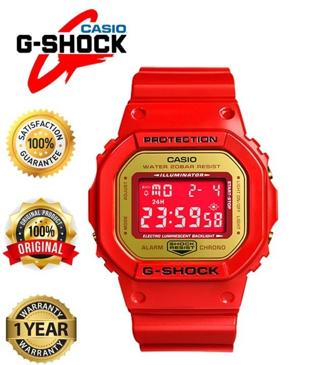Leo Marketing 100% Original G Sh0ck Original DW5600 cx Red Gold CNY Limited Edition Iron Man Digital Sports Watch for Unisex