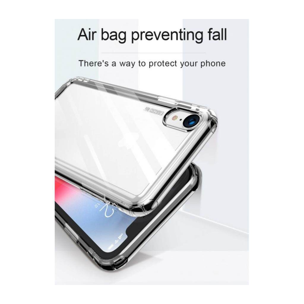 Baseus Safety Airbags Case For iPhone XR 6.1 inch, TPU Material, Airbags Shock Resistance, Thickened Edges, Transparent / Transparent Black