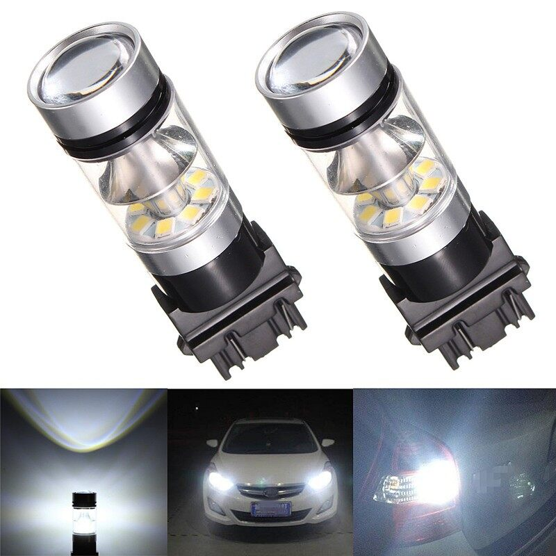 Car Lights - 2X 4X 3157 20LED DC12V 400LM 6000K 250MA White Bulbs Backup Reverse Light - Replacement Parts