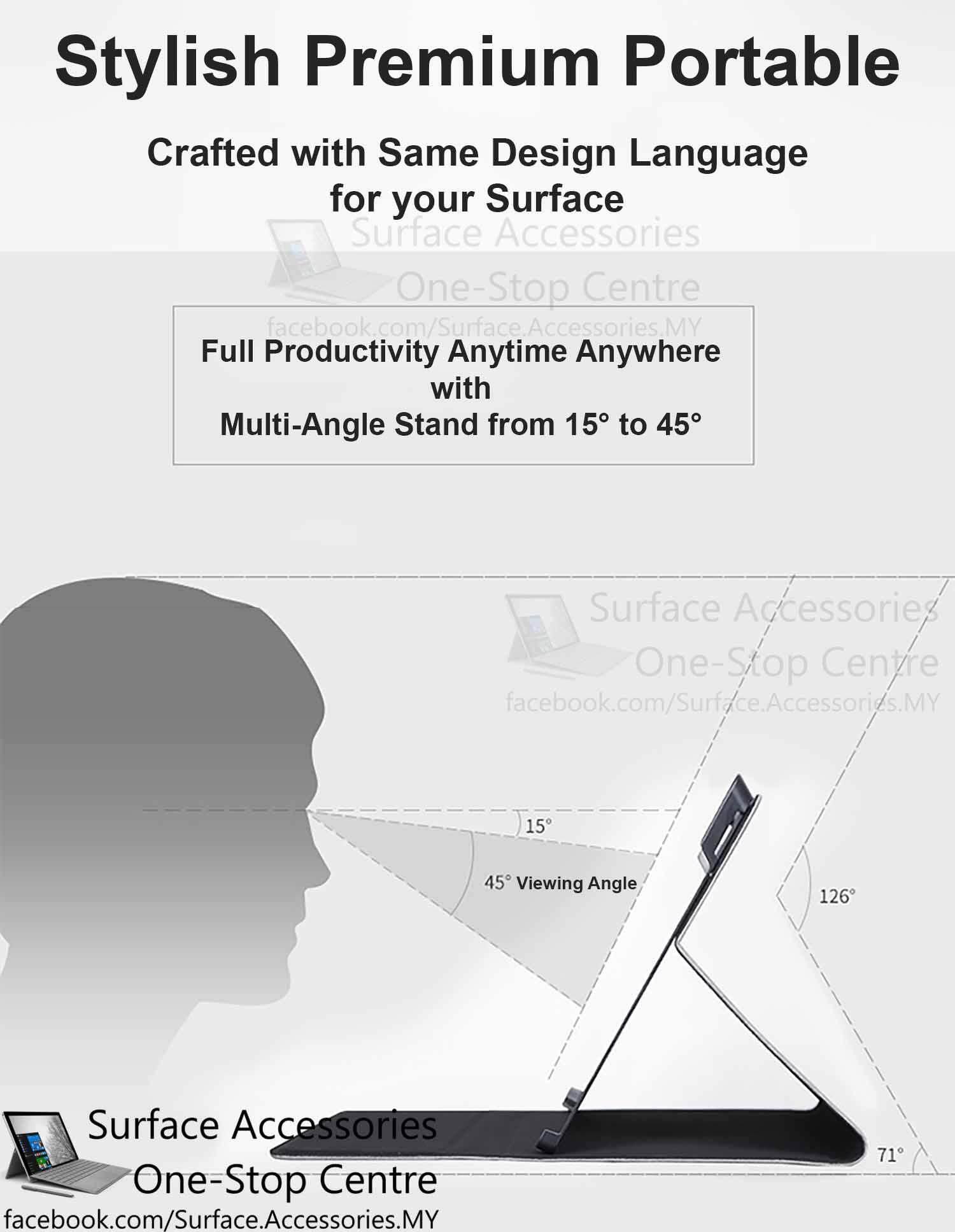 [MALAYSIA]Microsoft Surface Pro 4 Casing Cover Premium Ultimate Case Stand Flip Case Microsoft Surface Pro 4 Cover Case Stand
