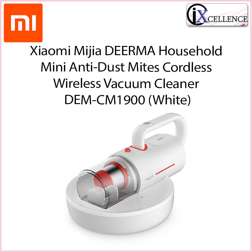 [IX] Xiaomi Mijia DEERMA Household Mini Anti-Dust Mites Cordless Wireless Vacuum Cleaner DEM-CM1900 (White)