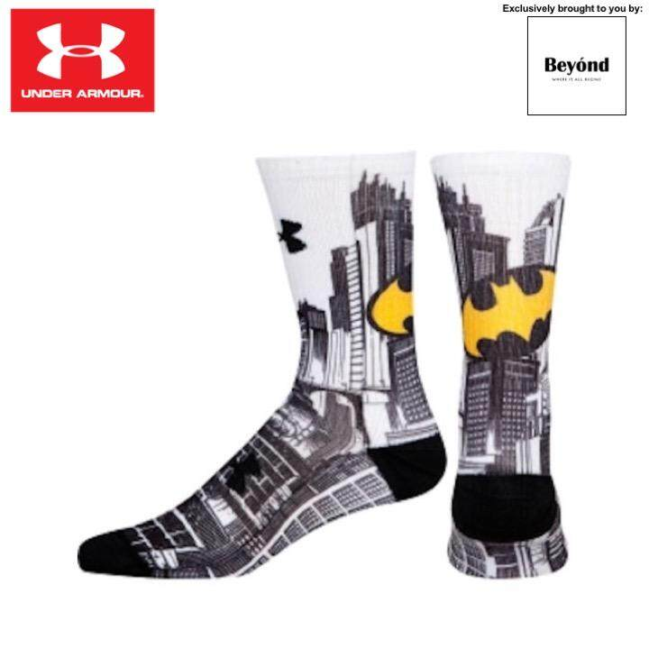 [Special Edition] Under Armour - Batman Sublimated Crew Socks (Size: MD UK 4-8)